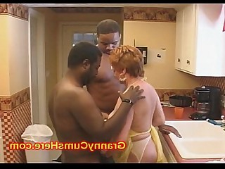 Mature Mammy Kitchen Cumshot Fuck Granny Housewife Black