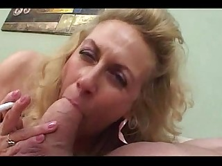 Blonde Big Cock Granny Mammy Mature Smoking Sucking