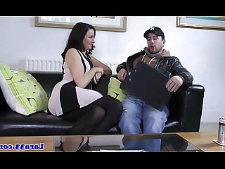 Stocking Tattoo Ass Close Up Big Cock Cumshot Doggy Style Double Penetration