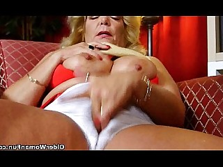 Cougar Mature HD Panties Nylon Solo Stocking Granny
