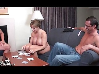 MILF Striptease Handjob