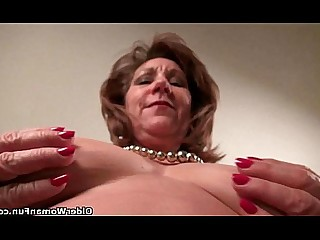 Cougar Granny HD Mature MILF Nylon Panties Solo