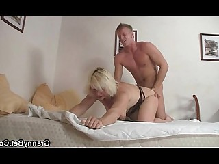Slender Hot Granny Pleasure Blonde Mature Old and Young Pussy