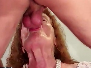 Fuck Granny Hairy Hardcore Mature Old and Young Pussy Sucking