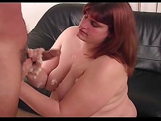 BBW Fatty Handjob Homemade Hot Jerking MILF Sister