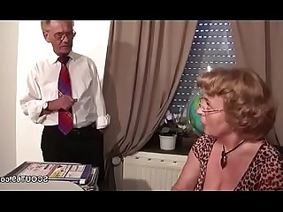 Hot Lingerie Mammy Mature MILF Stocking Blowjob Cumshot