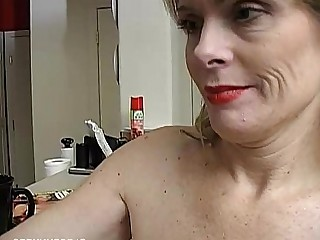 Masturbation Boobs Cougar Mammy Cum Dildo Granny Horny