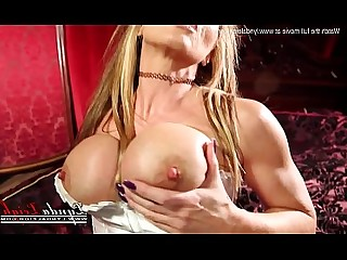 Boobs Jerking Masturbation MILF Pussy Striptease