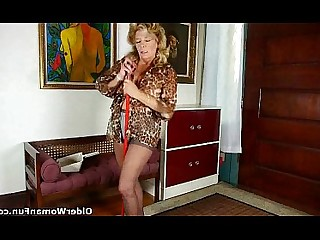 Cougar Granny HD Masturbation Mature MILF Solo