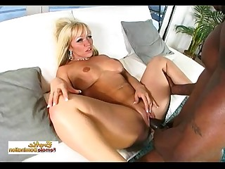 Huge Cock Interracial MILF Rough Facials Cumshot Ass Blonde