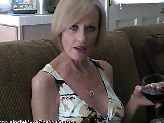 Sucking Blonde Mature MILF Granny Blowjob Boobs Amateur