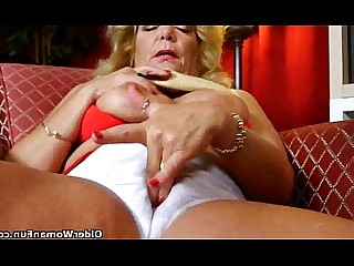 Cougar Granny Hairy HD Lingerie Masturbation Mature MILF