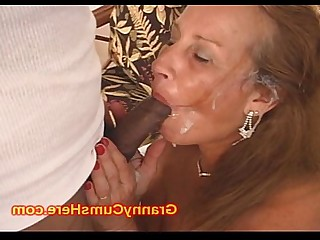 Black Big Cock Cum Cumshot Facials Granny Interracial Mammy