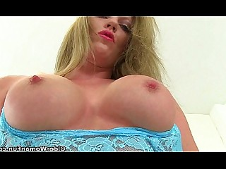HD Solo Mature Masturbation Stocking Mammy Angel MILF