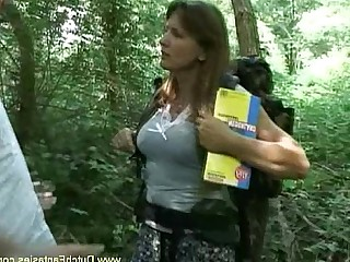 Fantasy Facials Brunette Cougar Outdoor Blowjob Doggy Style Cumshot