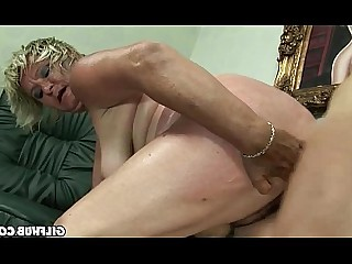 BDSM Blowjob Fuck Granny Hairy Mature Old and Young Pussy