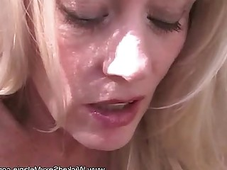 MILF Facials Amateur Blonde Blowjob Close Up Daddy Mammy
