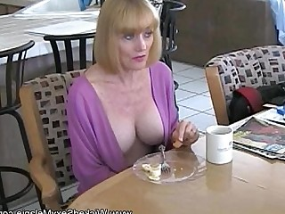 MILF Blowjob Amateur Blonde Boobs Facials Granny Funny