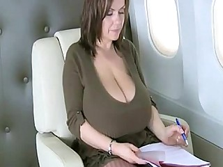 MILF Bus Big Tits Boobs Public Playing Office
