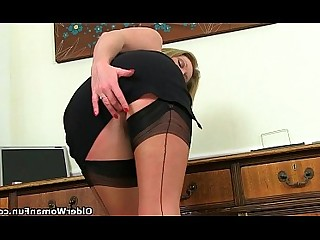 MILF Mature Cougar Masturbation Secretary Hidden Cam HD Angel