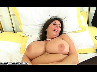 Stocking Big Tits High Heels Solo Granny Cougar HD Mature