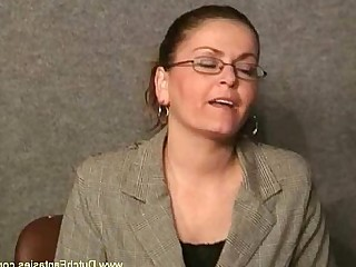 MILF Fantasy Cougar Ass Glasses Rough Slender Punished