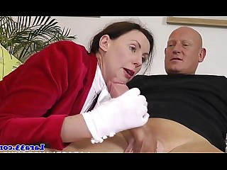 Juicy Masturbation Mature MILF Oral Posing Uniform Babe