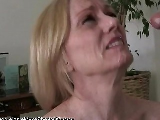 Mammy Fuck Fantasy Facials Daughter Daddy Cougar Cumshot