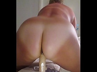 Ass Blonde Dildo Homemade Mature Ride Wife