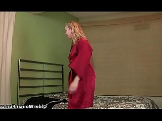 Cougar Granny HD Masturbation Mature MILF Solo Stocking