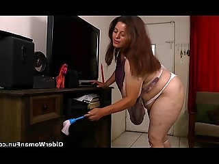 BBW HD Granny Housewife Slender Mature Nude Fatty