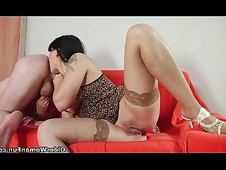 Hot Mature MILF Oral Rimming Ass Blowjob Cougar