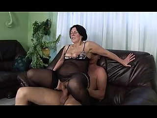 Granny Fuck Toys Mature Stocking