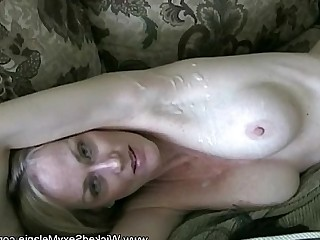 Creampie Really MILF Mature Blonde Amateur Cumshot Granny
