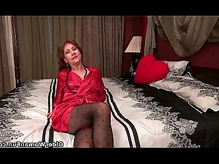 MILF Cougar Stocking HD Mature Nylon Panties Granny