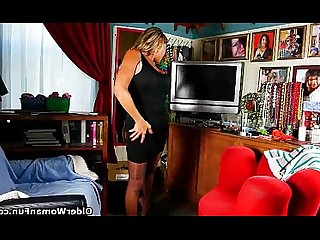 Cougar Granny HD Mammy Mature Nylon Panties Stocking