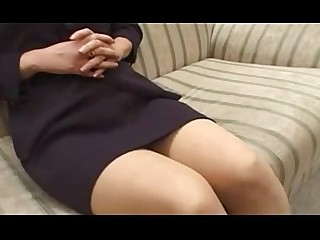 Mature Japanese Granny Glasses Ass