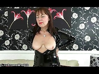 Cougar Granny HD Mammy Mature Pleasure Pussy Solo