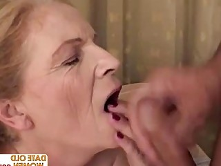 Facials Fatty Granny Mammy Mature Big Tits Blonde