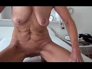 Juicy Blonde Lingerie Masturbation Mature MILF Slender