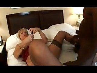 Black Blonde Big Cock Granny Horny Interracial Licking Mature