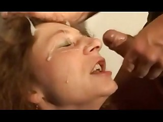 Hot Mature MILF Oral Redhead Spanking Sucking Wife