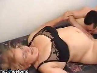 Glasses Ass Granny BBW Hardcore Fuck Mature Old and Young