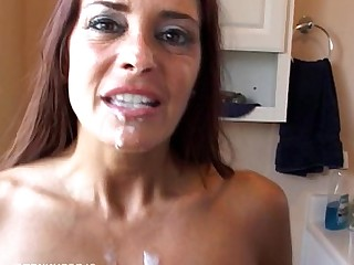 Brunette Cougar Cumshot Facials Flexible Fuck Hot Housewife