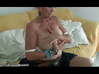Granny HD Mammy Mature Nylon Panties