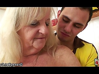 Blonde Granny Hot Mature Old and Young Pleasure Pussy Ride