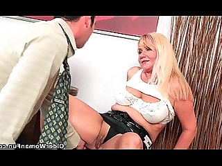 Blowjob Big Cock Cumshot Granny HD Hot Mammy Mature