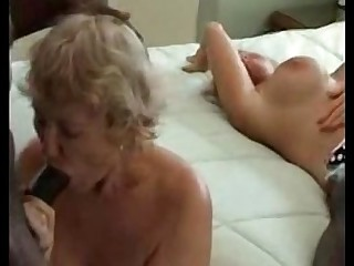 Granny Group Sex Interracial Mature MILF Orgy