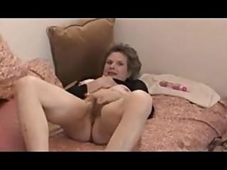 Amateur Granny Hairy Masturbation Mature Pussy Solo