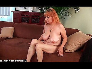 Big Tits Granny Hairy HD Mammy Mature Redhead Solo